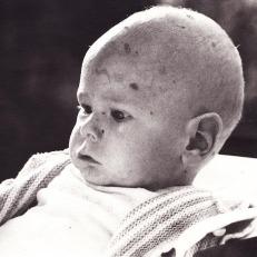 Bor Verkroost als baby