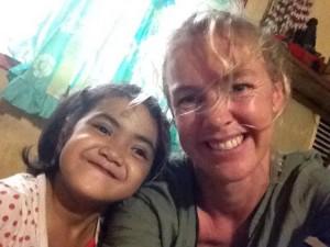 Selfie: Aïsha met Annemarie in Manila